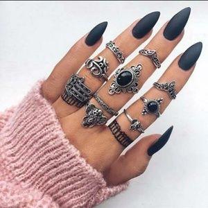 "Jewelry - "" Hazel"" Hamsa 10pc Ring Set"